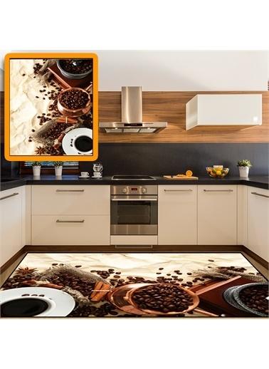Halı Kahve Cezve Modern Mutfak Halıları 80X150Cm Renkli